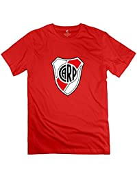 Hilary Susie Mens Escudo del Club River Plate Round Neck Fans T-Shirt XXXX-
