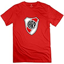 Men's Escudo Del Club River Plate Round Neck Fans T-Shirt XXXX-L