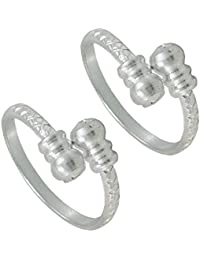 Pcm Silver Toe Ring Plain 92.5 Sterling Silver Plated Toe Ring Jewelry For Women