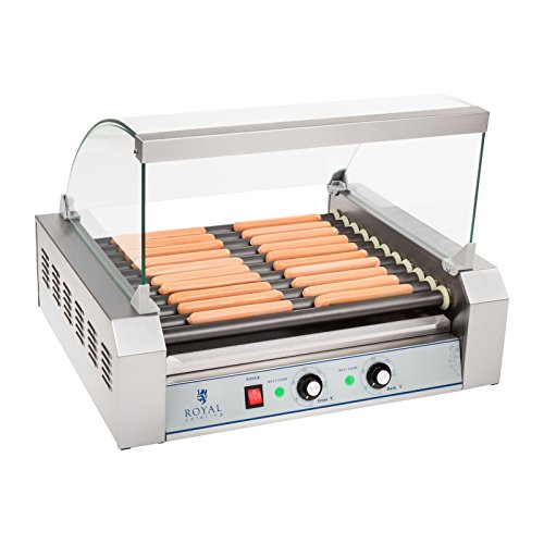 Royal Catering – RCHG-11T – 11-Roller Sausage Grill with Teflon Coating