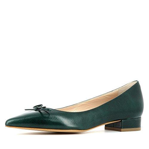FRANCA escarpins femme cuir lisse vert foncé