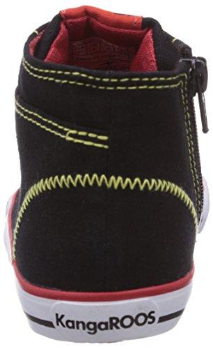 KangaROOS  KangaVulcInfant 2036, {Chaussures premiers pas pour bébé (garçon) Noir - Schwarz (black multi 509)