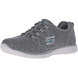 Skechers Microburst On The Edge Grey Womens Trainers -6