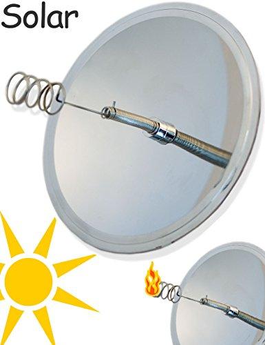 OUTDOOR SAXX® - Solar Feuerzeug | Hohlspiegel Solar Lighter | Überlebens Feuerzeug