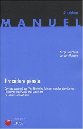 Procédure pénale (ancienne édition)