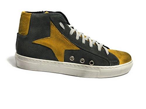 TONY WILD - Zapatos de cordones de Piel para hombre BIANCA BLU E ROSSO Size: 39 oERFncVKoI