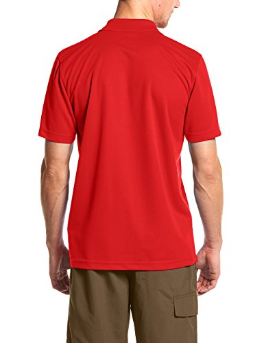 Maier Sports Herren Polo 1/2 Arm T-shirt, fire