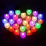 Luz De Vela En Forma De Corazón Casamiento De La Barra De Cumpleaños De La Boda Apoyos De La Disposición Sin Humo Seguridad Asegurada Fuente De Luz LED Material Plástico ABS