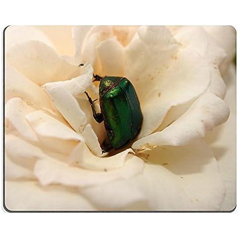 Liili Mouse Pad-Tappetino per Mouse in gomma naturale, motivo: coccinella, colore: rosa con immagine 22763406 ID