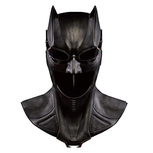 QWEASZER Batman Dark Knight Maske Helm Superhero Erwachsene 1: 1 Deluxe Edition für Sammlerstücke Halloween Maskerade Für Erwachsene Frauen Männer Cosplay Kostüm - Batman Black Knight Kostüm