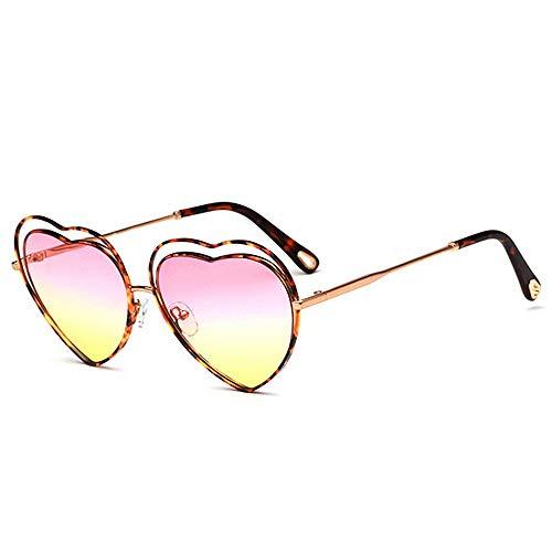 Yiph-Sunglass Sonnenbrillen Mode Frauen-Herz-Form-Sonnenbrille Farbiger Objektiv-UV400-Schutz, der das Radfahren läuft, das Fischen fährt (Farbe : C3)