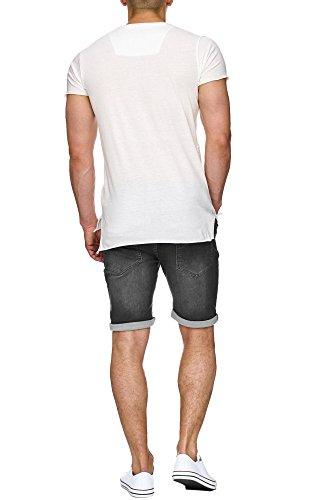 INDICODE Herren Kadin Shorts Shorts Denim Bermuda Black