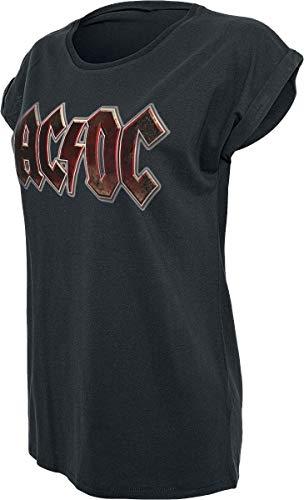 AC/DC Voltage Logo Camiseta Mujer Negro