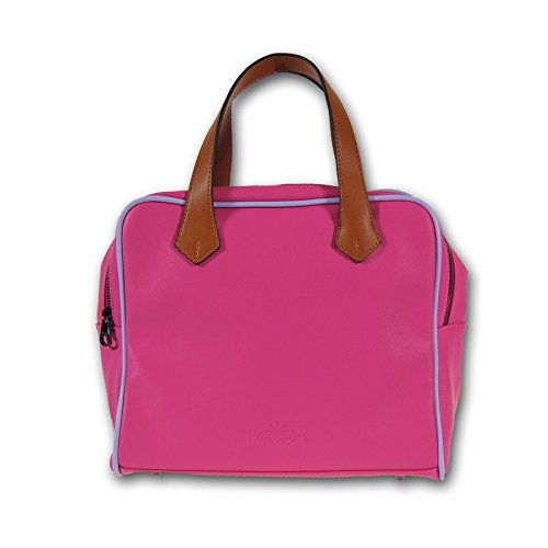 MIYA BLOOM Mode sac à main sac fourre-tout en cuir rose 30x25x16 cm gratuit (LxHxP) Vegan