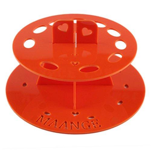 kingko® 10 Trou d'encastrement Ovale Porte-brosse de maquillage Etendoir Organizer Cosmetic Shelf Outil (orange)