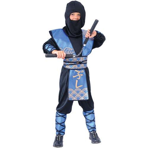 Dark Ninja Krieger Verkleidung für Jungs Fasching Karneval Halloween Kostüm M (Jungs Kostüme)
