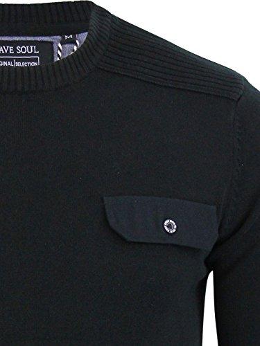 Brave Soul - Pull - Homme Noir