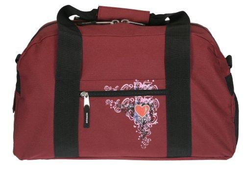 ELEPHANT Sporttasche 41 cm Sport Tasche Schulsporttasche mit SCHUHFACH [ AUSWAHL ] Flower Bordeaux