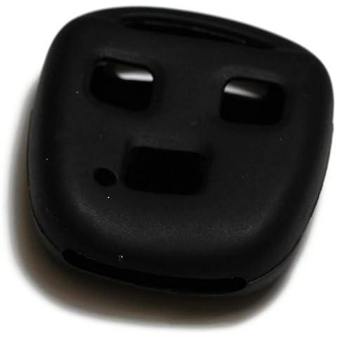 dantegts Llavero Negro de silicona Funda protección de Fundas para Smart Remote Key Chain compatible: Lexus