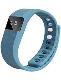 Fulltime (TM) Unisex deportes inteligente muñequera Sleep fitness Actividad Rastreador podómetro reloj de pulsera, hombre mujer Infantil, azul oscuro