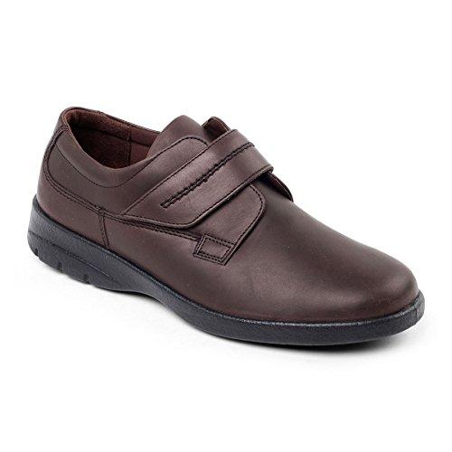 Padders Homme Chaussure en Cuir 'Air' | Taille Standard F | Talon 40mm | Avec Chausse-Pied Gratuit Marron