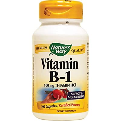 Nature's Way Vitamin B1, 100 Capsules (Pack of 3) from Nature's Way