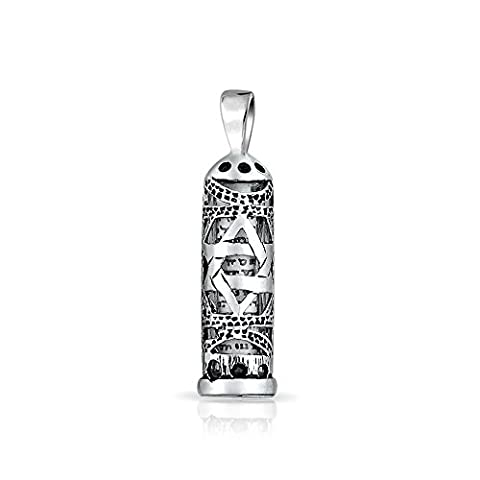 Bling Jewelry Mezuzah Star of David Cut Out 925 Sterling
