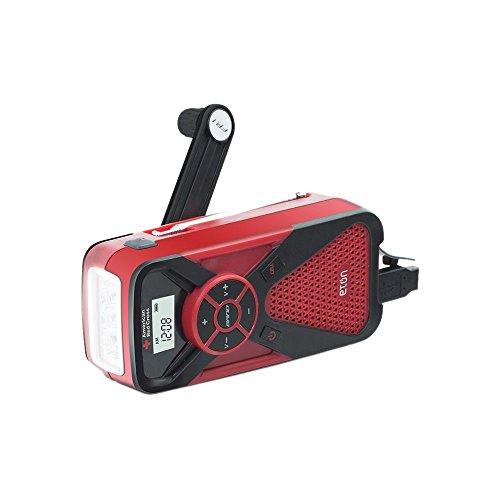 Eton American Red Cross Multi-Powered Smartphone Charger Weather Alert Radio and Flashlight in One FR1