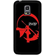 Funda Samsung Galaxy S5 Mini Phone caso RWBY Red Ruby Symbol negro Solid Cover
