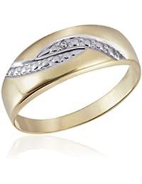 Goldmaid - Pr R30GG54 - Bague Femme - Or Jaune 9 Cts 375/1000 1.51 Gr - Diamant - T 54 (17.2)