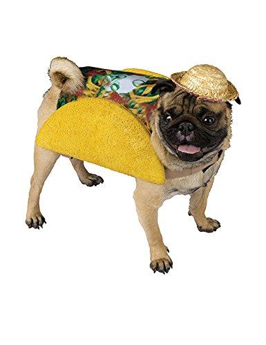 KULTFAKTOR GmbH Taco Kostüm für Hunde gelb-bunt - Taco Hunde Kostüm