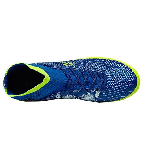 Ben Sports Unisex TF AG FG Fußball-Trainingsschuhe Fußballschuhe Football Schuhe der Herren Jungen,33-45 AG/FG-Blau