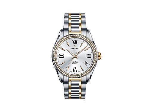 Eterna Lady KonTiki Automatic Watch, SW 200-1, PVD, Diamonds, 1260.55.17.1732