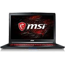 """MSI GL72M 7RDX-680XES - Ordenador portátil de 17.3"""" FullHD (Intel Core i7-7700HQ, RAM de 8 GB, 1 TB HDD y SSD de 256 GB, Nvidia Geforce GTX 1050 con 2 GB RAM, FreeDOS) negro"""