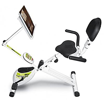 Tecnovita by BH REC BIKE YF93 Recumbent foldable bicycle. Saddle with comfortable backrest. Folds easily. Includes wheels.