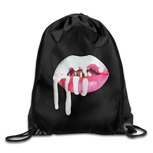 Dutch Gym Kylie Jenner Lip Kit Logo Cordón Mochila