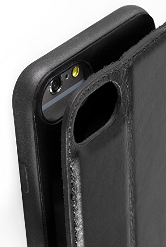 "Blumax iPhone 8 iPhone 7 Plus Case Leder Handyhülle Leder 2 in 1 Lederhülle 5,5"" Zoll Ledertasche braun mit Magnet Premium Design Handytasche individuelles Unikat Geschenkidee Schwarz"