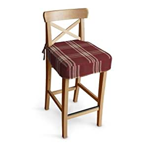 Dekoria Uk Ikea Ingolf Bar Stool Seat Pad Cover Burgundy