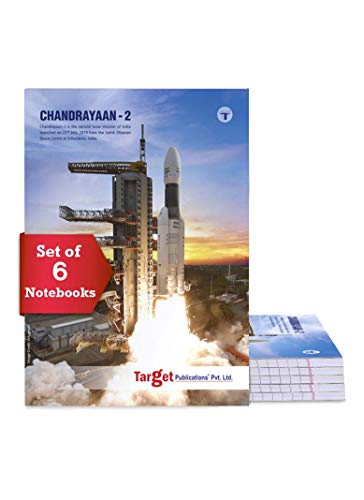 TARGET PUBLICATIONS Long Notebooks Single Line   164 Ruled Pages   20 cm x 28 cm Approx   Writing Book with Page Numbers   for School, College and Office Use   Soft Cover   Pack of 6 Books   GSM 58