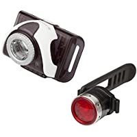 Ledlenser B2R Rechargeable White Front and Red Rear Bike Light Set - Clear Cube