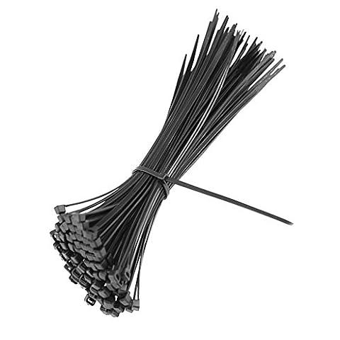 MagiDeal 100pcs Serre-câble Electrique Attache Câble en Nylon Auto-verouilllage -