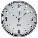 Orologio Da Parete Rotondo D 30Cm, Stile Moderno, Orologi Da Muro, Forma Rotonda, Per Camera Soggiorno Cucina Salotto Ecc, grig