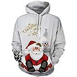Unisex Weihnachten Kapuzenpullover 3D gedruckt Winter Sweat Shirt Langarm Hoodie Taschen Top