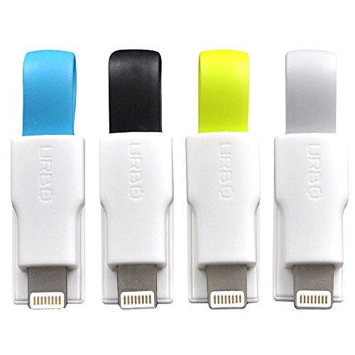 Urbo Ladekabel (4er Set) als Schlüsselanhänger, USB Typ-A auf Lightning Kabel für Apple (z.B. Iphone 5 und neuer, Ipod Touch 4th Generation und neuer, iPad Air, iPad Pro, iPad Mini, iPad Nano)