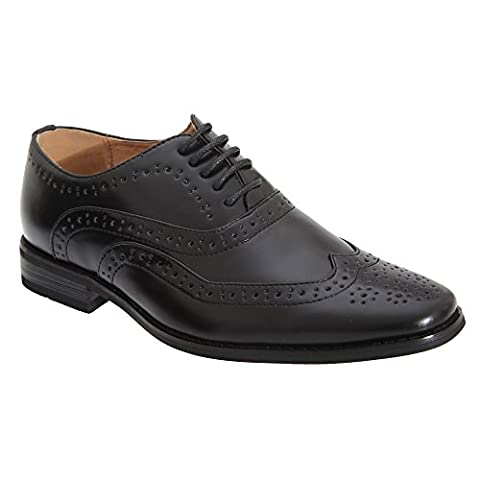 Goor Boys 5 Eye Brogue Oxford Shoes (4 UK) (Black)