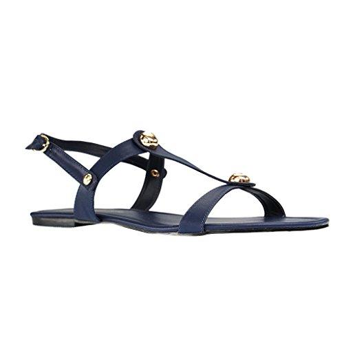 ANDRÉS MACHADO - AM5167 - Damen Sandalen - Blau Schuhe in Übergrößen Blau
