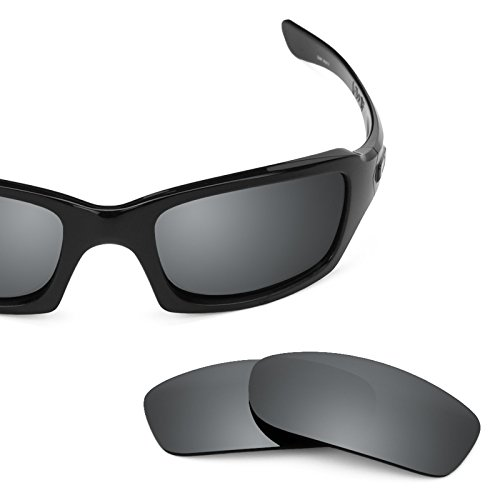 Verres de rechange pour Oakley Fives 3.0 — Plusieurs options Noir Chrome MirrorShield® - Non-Polarisés