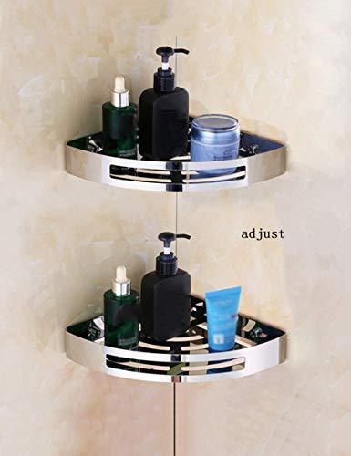 MIAOKJWSJ Dusche Regal Perforierte Badezimmer Rack Edelstahl Badezimmer Dreieck Korb Wc WC Regale Sicherstellung Qualität CMF,R21cm * H (eingestellt) CMB