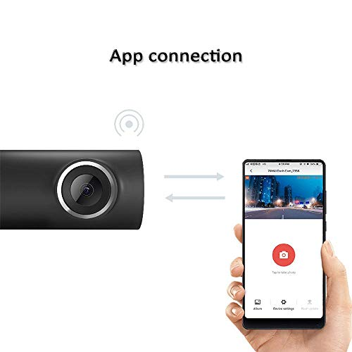 41LOcXRX9RL - Xiaomi 70mai Smart Dash CAM con WiFi Incorporado, con Control de Voz, grabación de Emergencia, Panel de Control de App, HD 1080P, Gran Angular de 130 ° con visión Nocturna, G-Sensor, DVR automóvil
