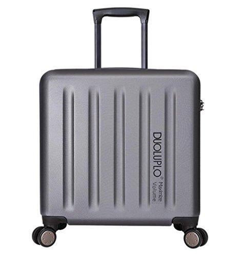 PINCHU Maletas para cabina piloto Laptop con ruedas Business Trolley Maletin informático Carry On Roller Cases, silver